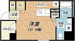 クレグラン天満[4階]の間取り