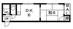 八尾木グリーンハイツ[305号室号室]の間取り