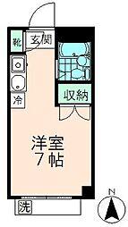 エルム高幡A棟[208号室]の間取り