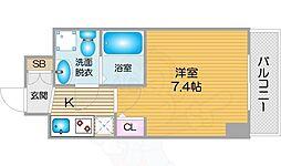 南海線 天下茶屋駅 徒歩5分の賃貸マンション 9階1Kの間取り
