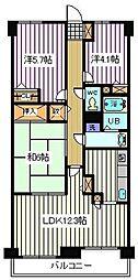 埼玉県さいたま市南区沼影2丁目の賃貸マンションの間取り