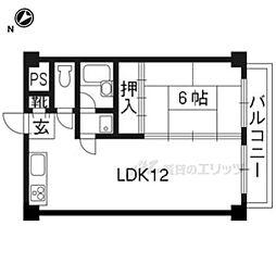 ファーストビル 2階1LDKの間取り
