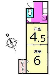 清美荘[205号室]の間取り