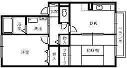 宗久園ハイツB棟[2階]の間取り