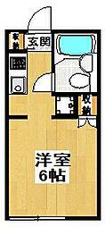 東京都世田谷区三宿2丁目の賃貸アパートの間取り