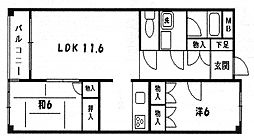 東京都町田市原町田4丁目の賃貸マンションの間取り