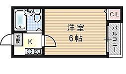 ロイヤル千本南[4階]の間取り