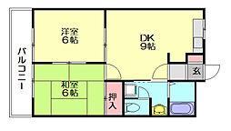 ビラージュ花ヶ浦[1階]の間取り