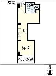 FLATS GAZERY[4階]の間取り