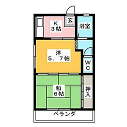 ニューコーポ寺島[3階]の間取り