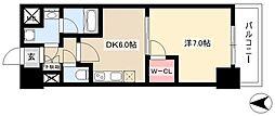 MX-I 7階1DKの間取り