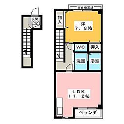 愛知県名古屋市中川区伏屋1丁目の賃貸マンションの間取り