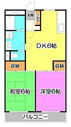 松原マンション[1階]の間取り