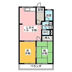 リバーサイドMABUTI[2階]の間取り
