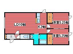 ラピタ[1階]の間取り