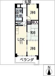アパートメントハウス朴の樹[4階]の間取り