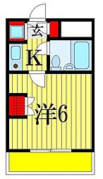 千葉県船橋市日の出1丁目の賃貸マンションの間取り
