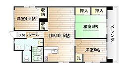 第17共立ビル[11階]の間取り