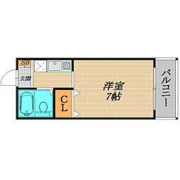 アインスNakamiya[4階]の間取り