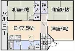 第二植野ビル[1階]の間取り
