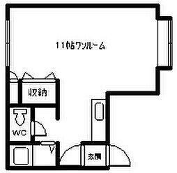 ホワイトロード[207号室]の間取り