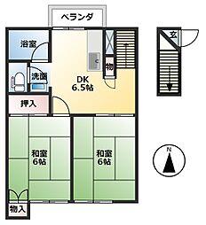 光洋コーポ[2階]の間取り