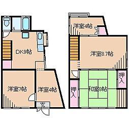 [タウンハウス] 神奈川県横浜市港北区大曽根1丁目 の賃貸【/】の間取り