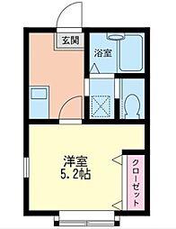 神奈川県相模原市南区麻溝台3丁目の賃貸アパートの間取り