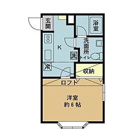 ベルシオン新潟I[203号室]の間取り