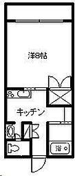 シーサイドコーポ D棟[105号室]の間取り
