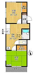 多摩プラサーダ[1階]の間取り
