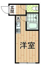 神奈川県川崎市中原区小杉陣屋町2丁目の賃貸アパートの間取り