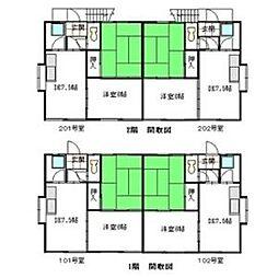 ガーデン緑ヶ岡[00202号室]の間取り