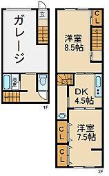 [テラスハウス] 大阪府寝屋川市梅が丘1丁目 の賃貸【/】の間取り