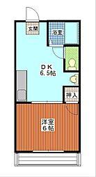 茨城県ひたちなか市高場3丁目の賃貸アパートの間取り