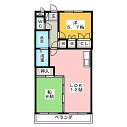 ラ・メゾンファミーユ[4階]の間取り
