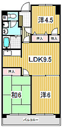清水山第1パークハイツ[0207号室]の間取り