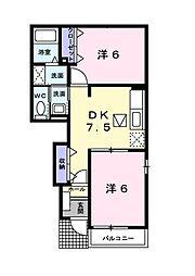 ラフィネメゾンA[1階]の間取り