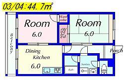 M'Sマンション[1A号室]の間取り