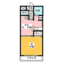 ガーデンヒルズ春日II[1階]の間取り