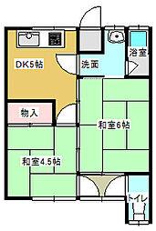 若宮荘[2号室号室]の間取り