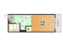 サニーハイム[1階]の間取り