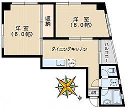 小日向安田ビル[6階]の間取り