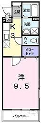 東急田園都市線 たまプラーザ駅 徒歩15分の賃貸アパート 1階1Kの間取り