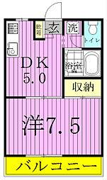 エステートピア常盤台II[2階]の間取り