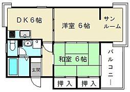 静岡県静岡市駿河区みずほ2丁目の賃貸アパートの間取り