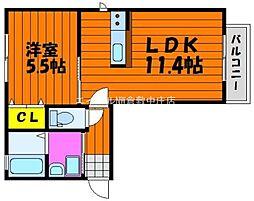 サンクラスト C棟[2階]の間取り