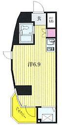 東急ドエルアルス川崎(最上階、角住戸)[901号室]の間取り