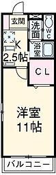 愛知県安城市古井町北芝崎の賃貸マンションの間取り