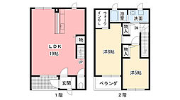 [テラスハウス] 兵庫県西宮市段上町3丁目 の賃貸【/】の間取り